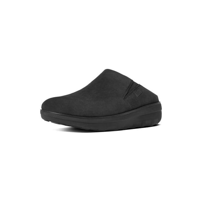 bd5e8ca6ef1a Fitflop Womens Loaff Suede Clogs in Black