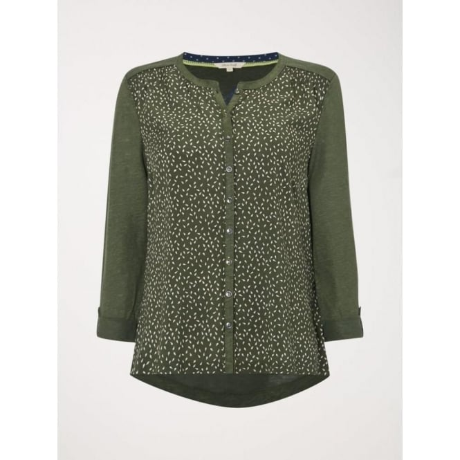 White Stuff Womens Town And City Jersey Shirt in Spinach Green
