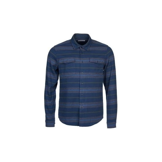 Barbour Mens Deck Shirt in Navy