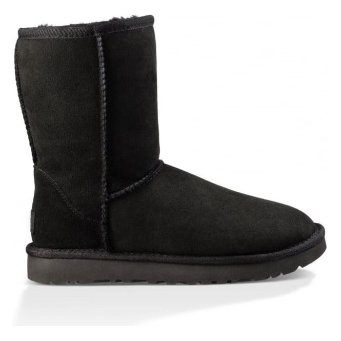 UGG Womens Classic Short II Boot in Black