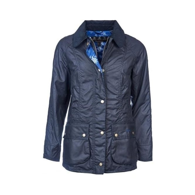 Barbour Womens Catherine Wax Jacket in Navy