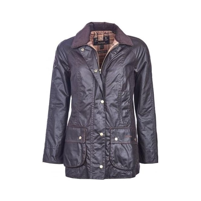 Barbour Womens Classic Beadnell Wax Jacket in Rustic
