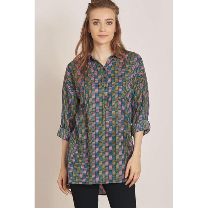 8da5c43bbbaf79 Seasalt Polpeor Tunic in Strata Check Deep Sea|Parkinsons Lifestyle