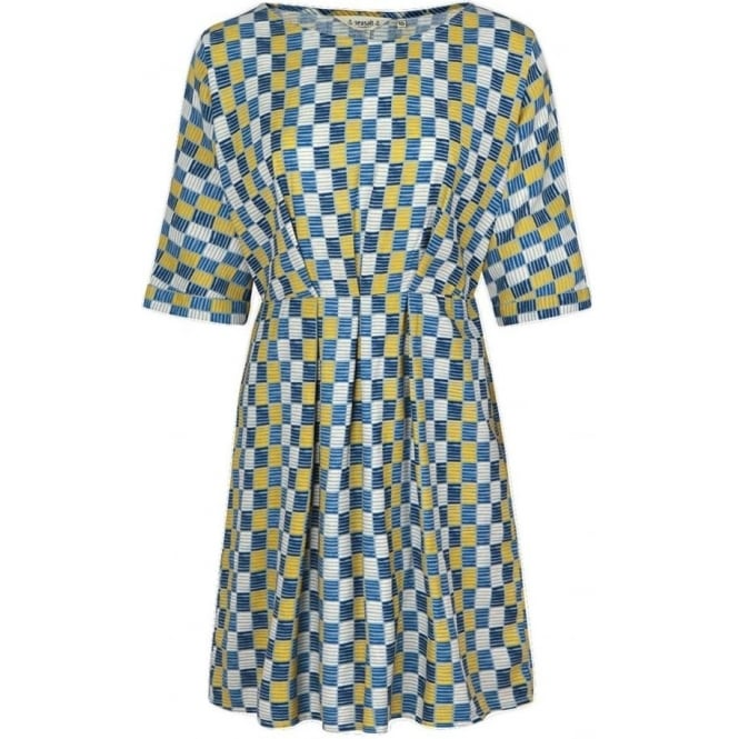 Seasalt Womens Mrs Green Dress in Strata Check Limpet