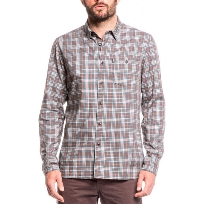 Aigle Mens Sandpiper Shirt in Fusain Check