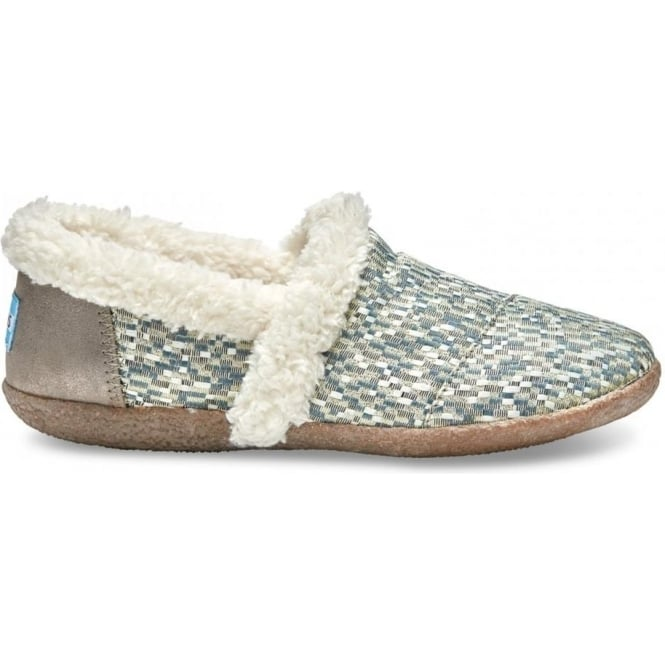 be8d82fdf8 Toms Womens Silver Glitz Woven Slipper|Parkinsons Lifestyle