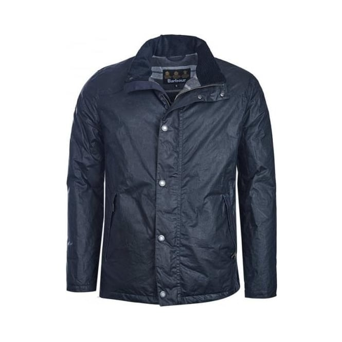 Barbour Mens Hilton Wax Jacket in Navy