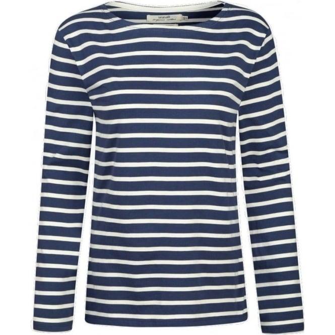 aeb75787 Seasalt Womens Sailor Shirt in Breton Night Ecru|Parkinsons Lifestyle