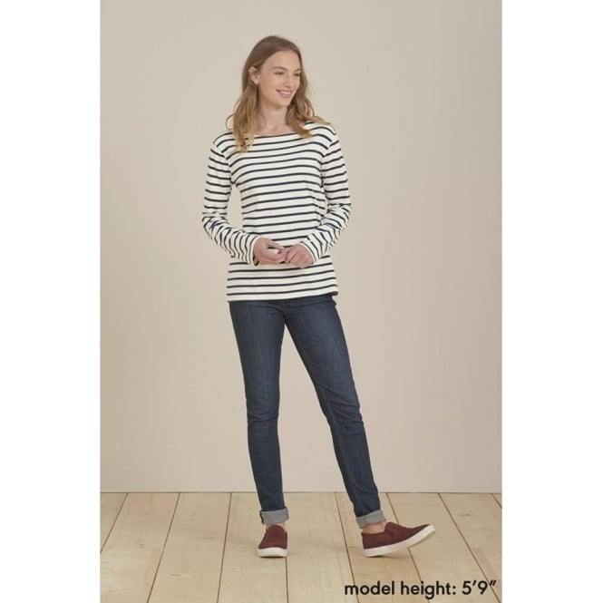 4b3f888b Seasalt Womens Sailor Shirt in Breton Ecru Night|Parkinsons Lifestyle