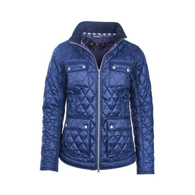 Barbour Womens Dolostone Quilted Jacket in Navy