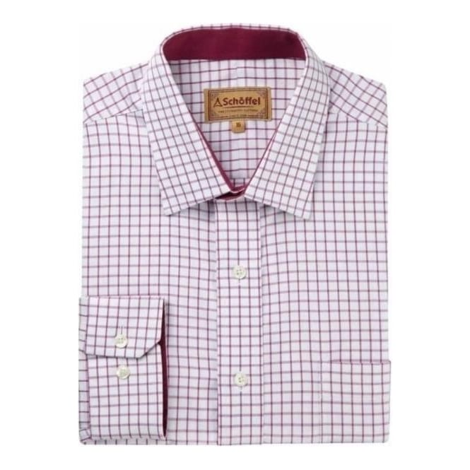 Schoffel Mens Cambridge Shirt in Raspberry