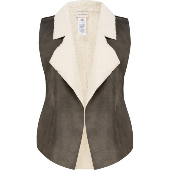 French Connection Womens Winter Rhoda Borg Gilet in Indian Tan