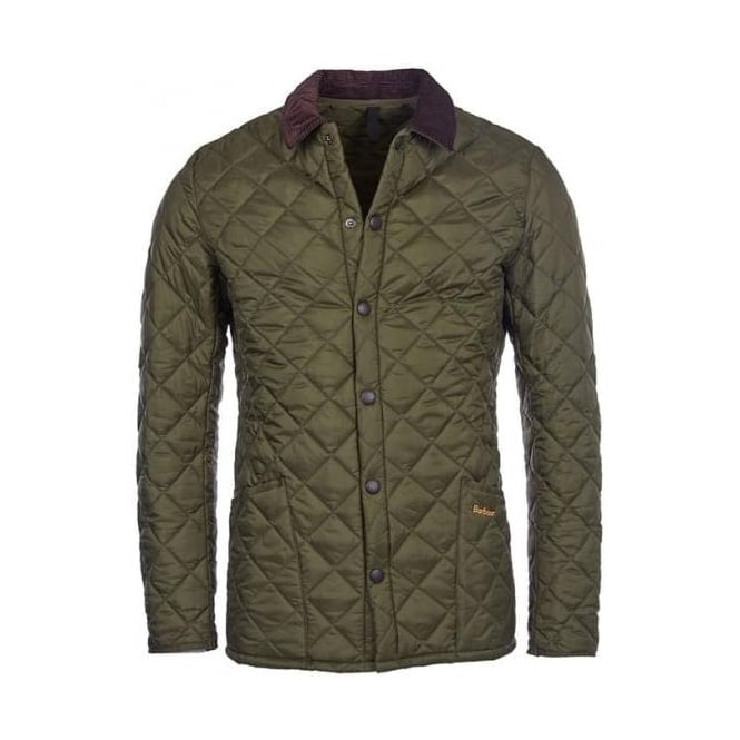 Barbour Mens Heritage Liddesdale Quilted Jacket in Olive