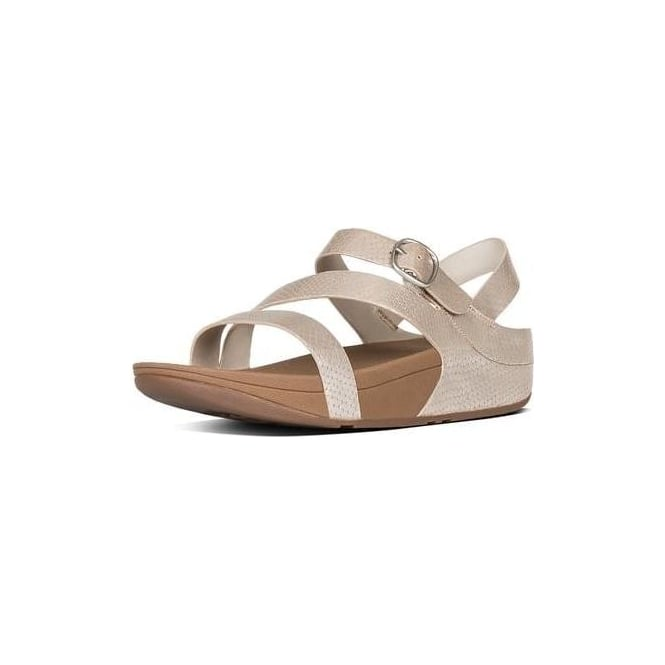 9cb7fb70d722d Fitflop Womens The Skinny Z-Strap Sandals in Silver Snake