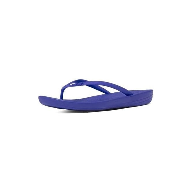 6bb80752c0d0f7 Fitflop Womens Iqushion Super-Ergonomic Flip Flops in Royal Blue ...
