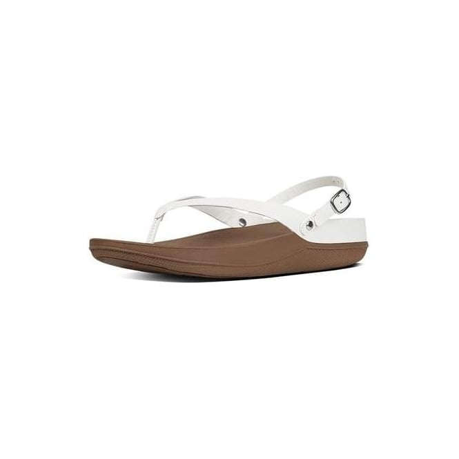 241f4eec9 Fitflop Flip Leather Back-Strap Sandals in Urban White