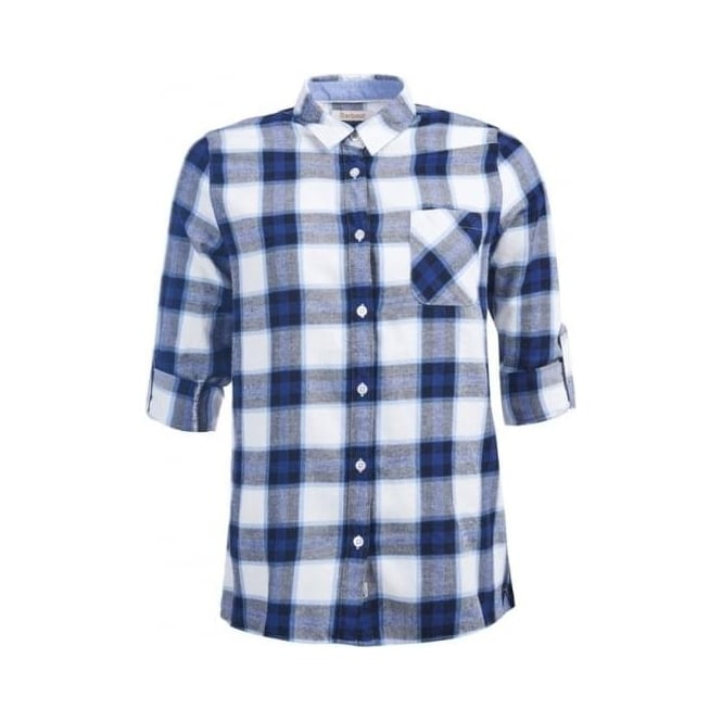 Barbour Womens Headland Check Shirt Blue