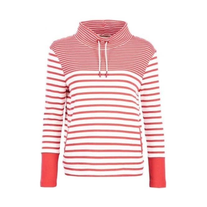 Barbour Womens Rief Sweat in Cloud Red