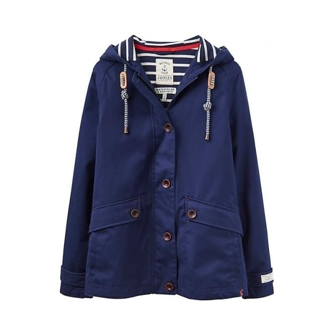 f0e2df9474c Joules Coast Waterproof Hooded Jacket in French Navy