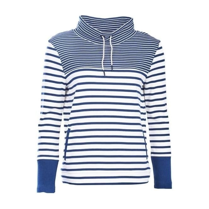Barbour Womens Rief Sweat in Navy/Cloud