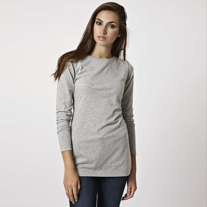 Cove Womens Long Layering Tee in Grey