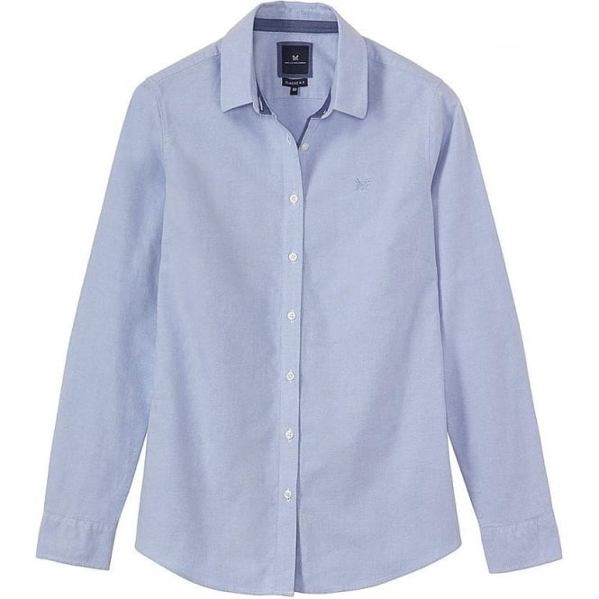 Crew Clothing Womens Classic Oxford Shirt in Classic Blue