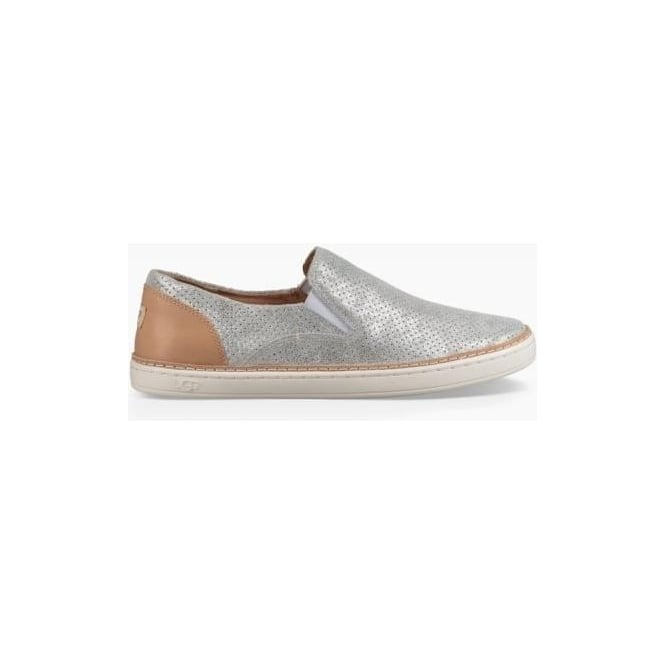 UGG Womens Adley Perf Stardust Slip On Shoe in Silver