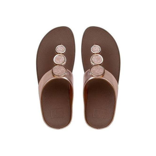 39cb7b92b80abd Fitflop Womens Halo Toe-Thong Sandals in Rose Gold