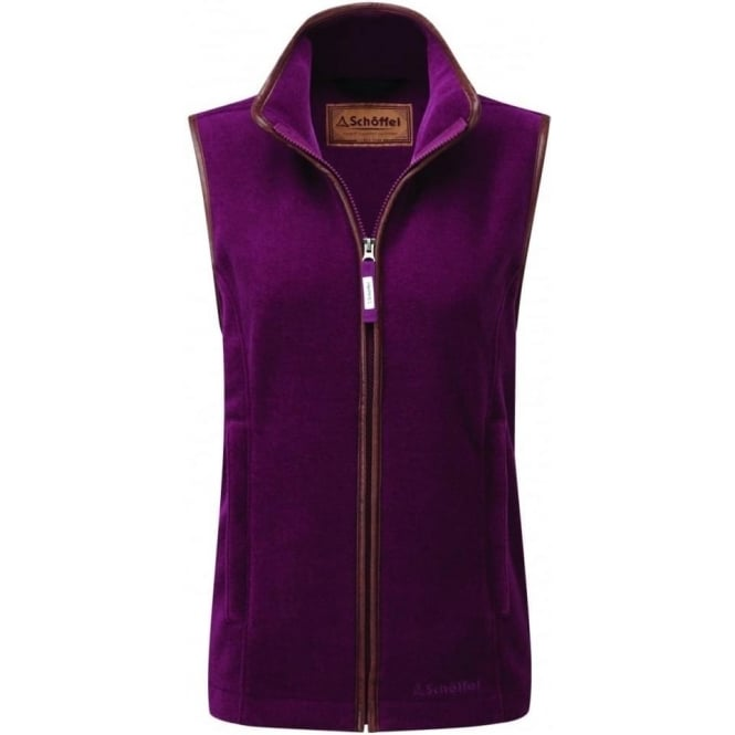 Schoffel Womens Lyndon II Fleece Gilet in Plum