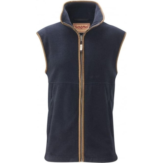 Schoffel Mens Oakham Fleece Gilet in Navy