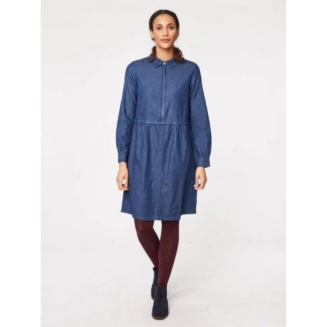 f9deae93e7f Thought Womens Hilma Shirt Dress in Indigo Parkinsons Lifestyle