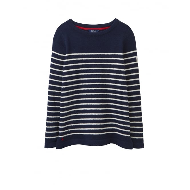 Joules Womens Seaham Chenille Jumper in French Navy