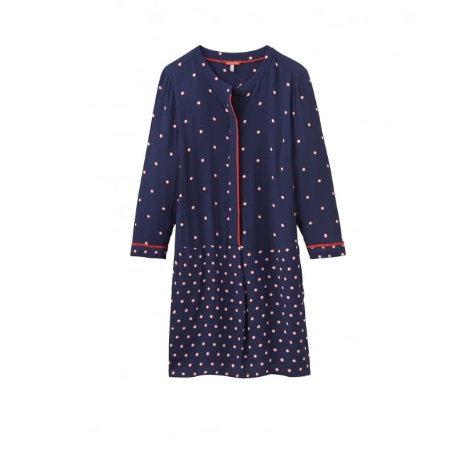 Joules Womens Arvia Printed Woven Tunic in French Navy Spot