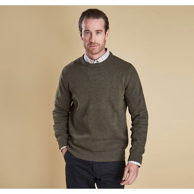 8b5f1b12cf0 Barbour Mens Nelson Essential Crew Neck Jumper in Seaweed