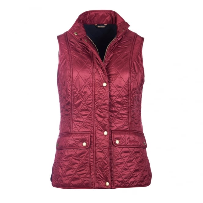Barbour Womens Wray Gilet in Carmine