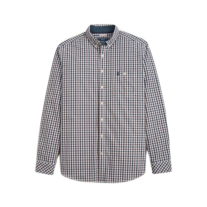 Joules Mens Hewney Shirt in Midnight Gingham