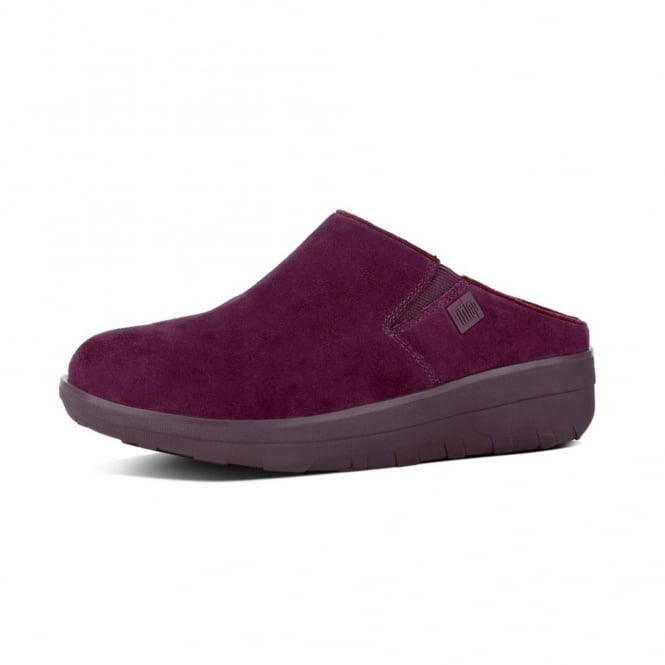 7ad50ff1d Fitflop Womens Loaff Suede Clogs in Dark Plum