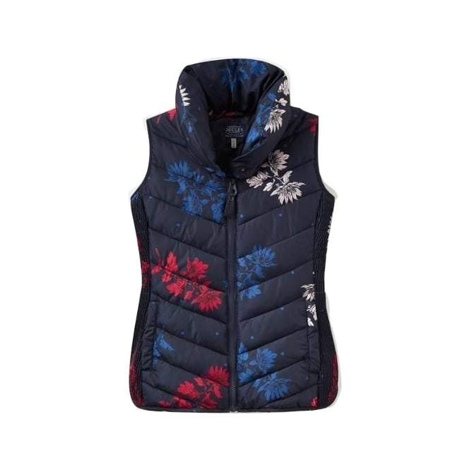 competitive price 932af e65d1 Womens Larkhill Print Padded Gilet in Marine Navy Fay Floral