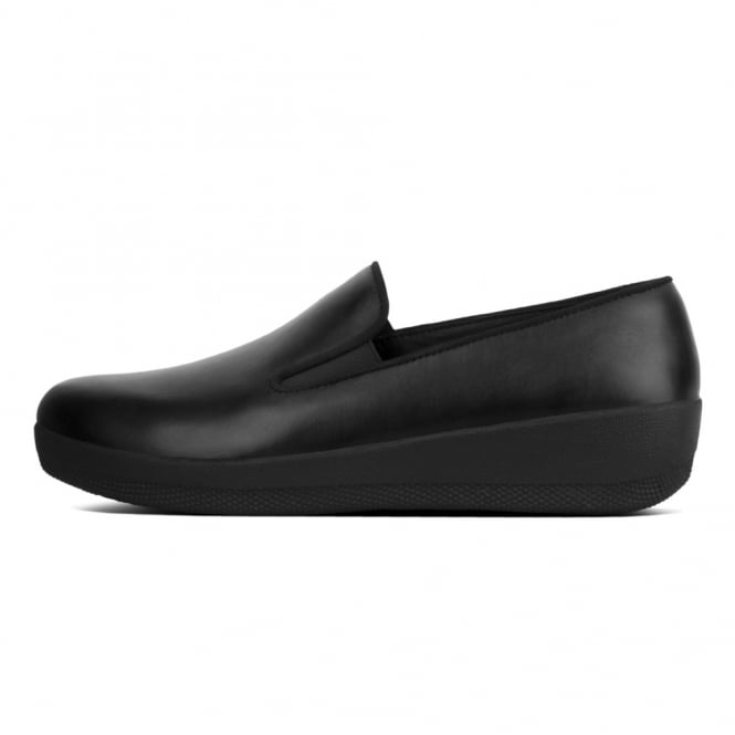 f32e3619f3e FitFlop™ Superskate™ Leather Loafers in All Black