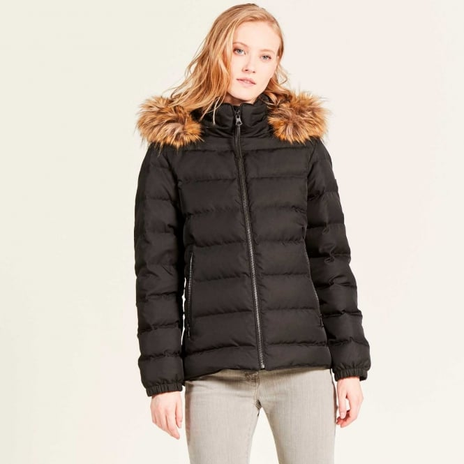 Aigle Womens Rigdown Short Down Puffer Coat in Noir