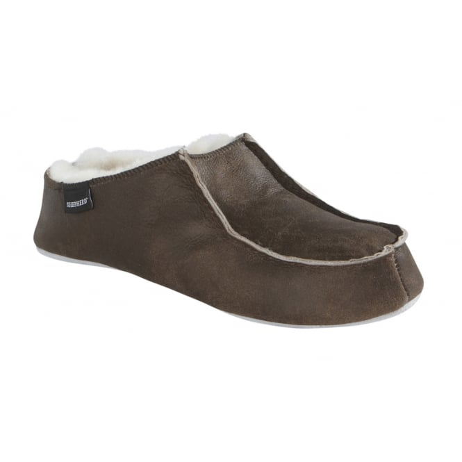 Shepherd Mens Birro Slipper in Oiled Antique