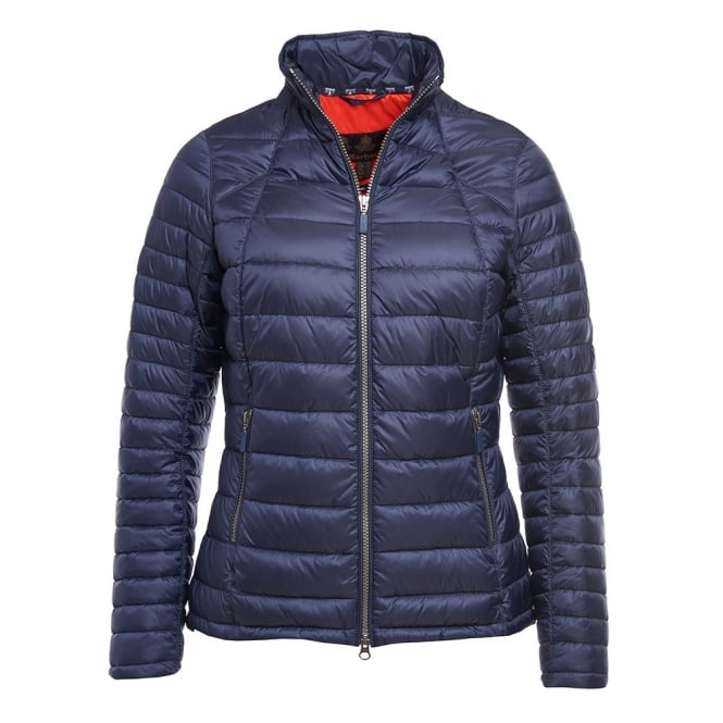 Barbour Womens Daisyhill Quilted Jacket in Navy/Signal Orange