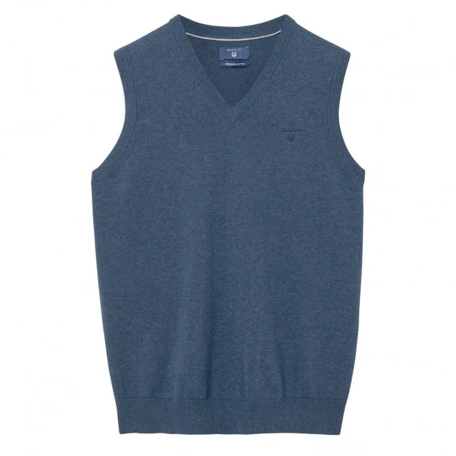 melange jeans Slipover azul oscuros de para ligero en hombre algodón Suéter vR6Hdqww