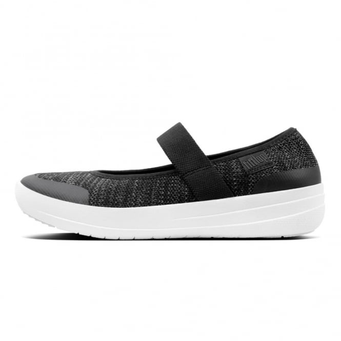 22e50d24454b6f Fitflop Womens Uberknit Mary Janes in Black Soft Grey