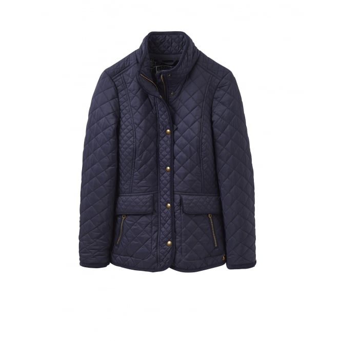 Joules Womens Newdale Quilted Jacket In Marine Navyparkinsons Lifestyle