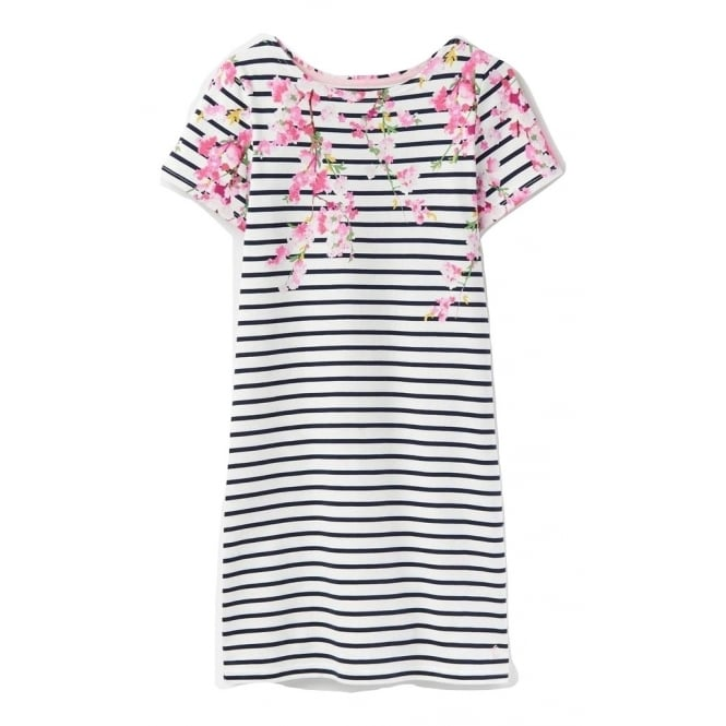 Joules Womens Rivieraprint Dress in Navy Blossom Stripe