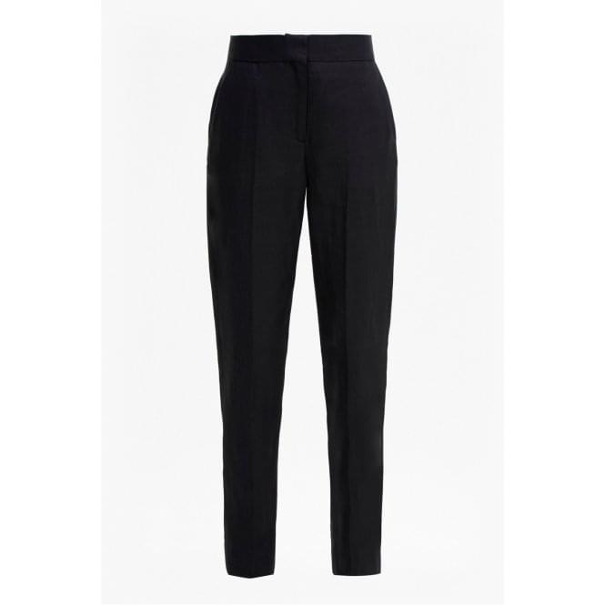 French Connection Womens Hattie Linen Trousers in Black