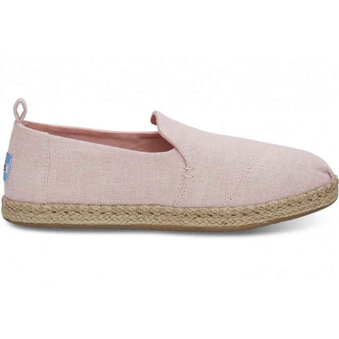 210553f1a Toms Womens Blossom Slub Chambray Deconstructed Alpargatas in Pink ...