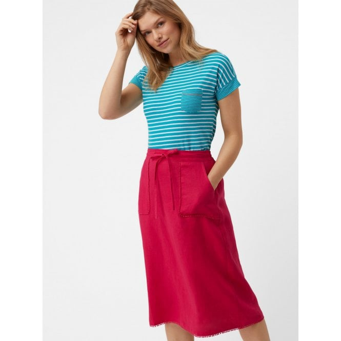 91d08332da38 White Stuff Portia Plain Skirt in Raspberry Pink Plain|Parkinsons ...