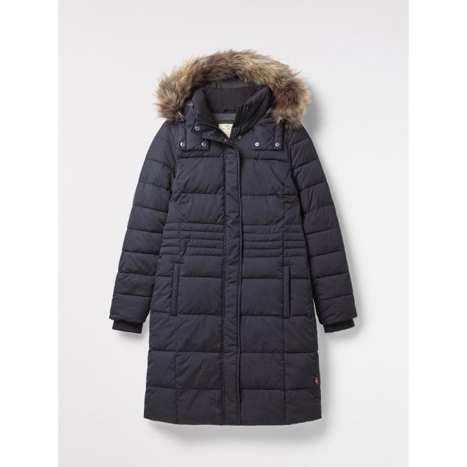 8bbe61f2242 White Stuff Womens Thirlmere Long Padded Coat in Navy|Parkinsons ...